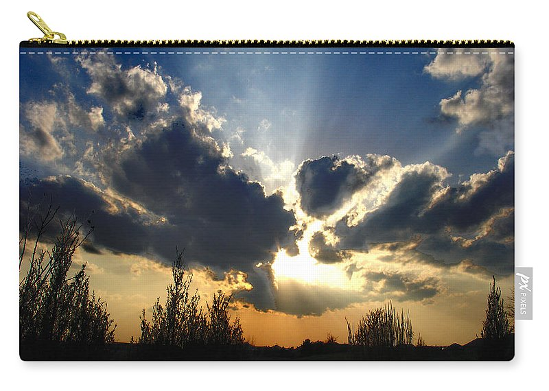 Landscape Carry-all Pouch featuring the photograph Evening Sky by Steve Karol