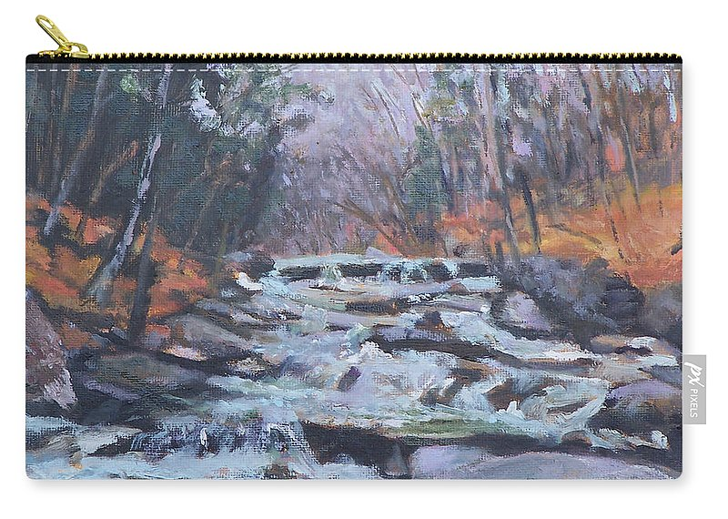 Vt Carry-all Pouch featuring the painting Evening Spillway by Alicia Drakiotes