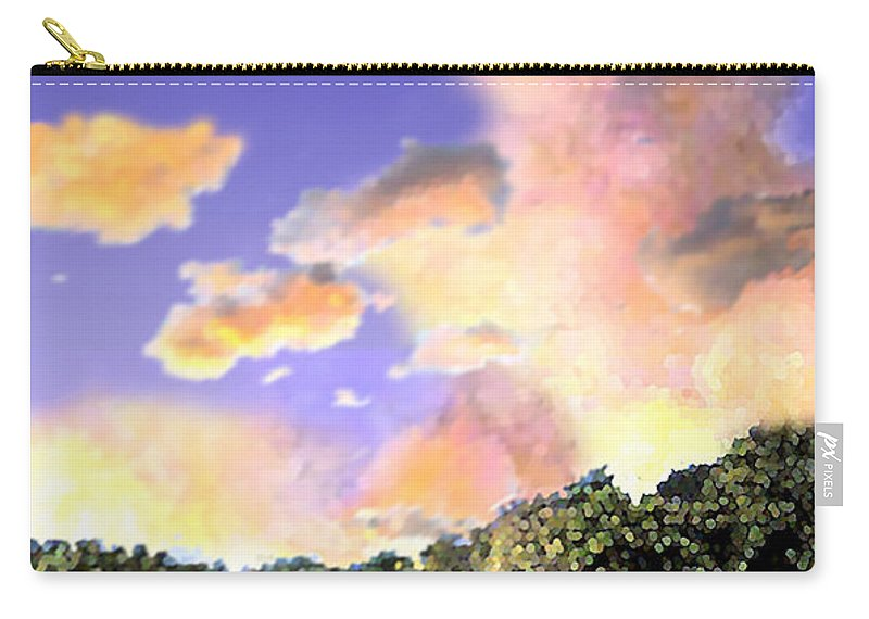 Landscape Carry-all Pouch featuring the digital art Evening Star by Steve Karol