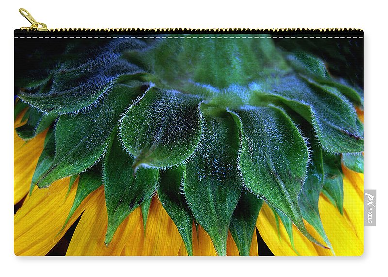 Flower Carry-all Pouch featuring the photograph Evening Sunflower by Jessica Jenney