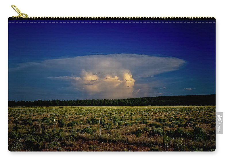 Evening Thunderstorm Carry-all Pouch featuring the photograph Evening Thunderstorm by Albert Seger