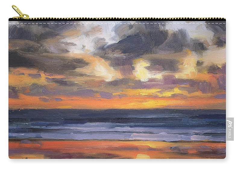 Coast Carry-all Pouch featuring the painting Eventide by Steve Henderson