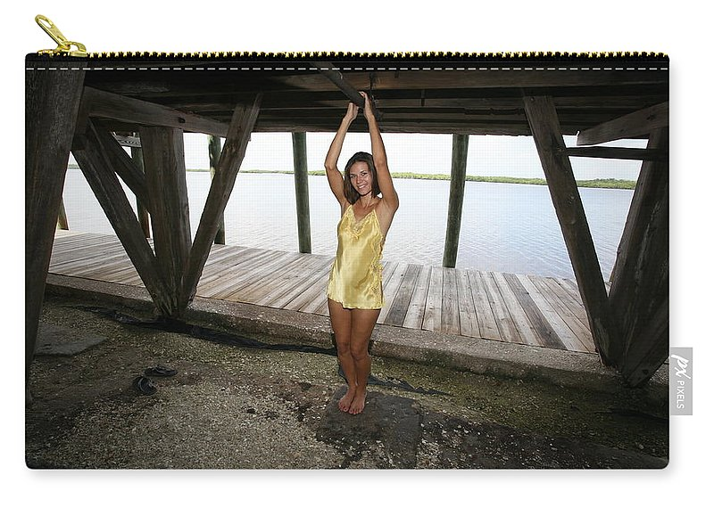 Everglades City Photographer Lucky Cole Beauty Sexy Exotic Glamorous Natural Carry-all Pouch featuring the photograph Everglades City Beauty 552 by Lucky Cole