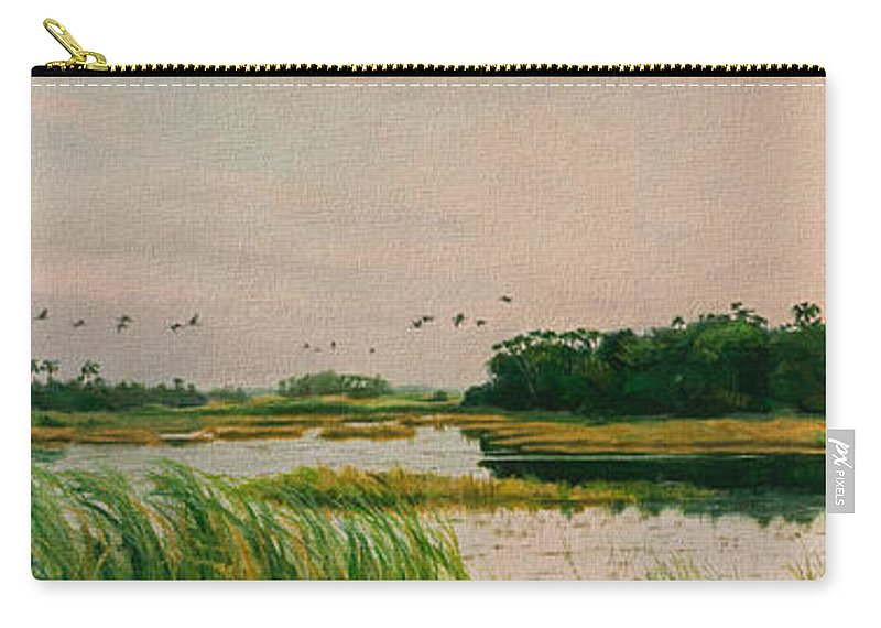 Landscape Carry-all Pouch featuring the painting Everglades Dawn by Carol McArdle
