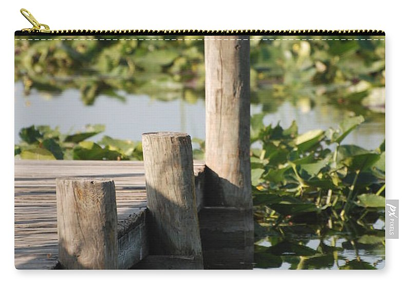 Landscape Carry-all Pouch featuring the photograph Everglades Pier by Rob Hans