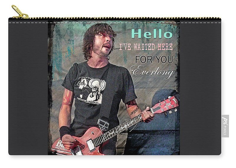Dave Grohl Carry-all Pouch featuring the digital art Everlong by Mal Bray