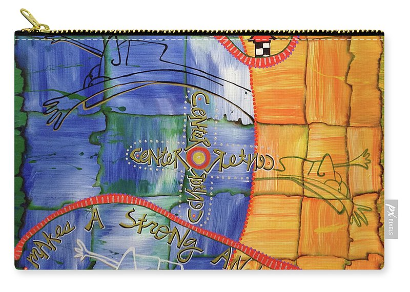 Art Carry-all Pouch featuring the painting eVertigo by Dar Freeland