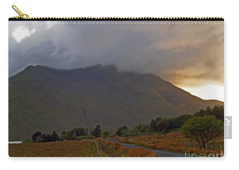 Fine Art Photography Carry-all Pouch featuring the photograph Every Cloud Has A Silver Lining by Patricia Griffin Brett
