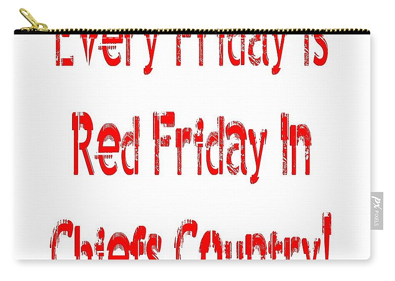 Andee Design Kc Chiefs Carry-all Pouch featuring the digital art Every Friday Is Red Friday In Chiefs Country 1 by Andee Design