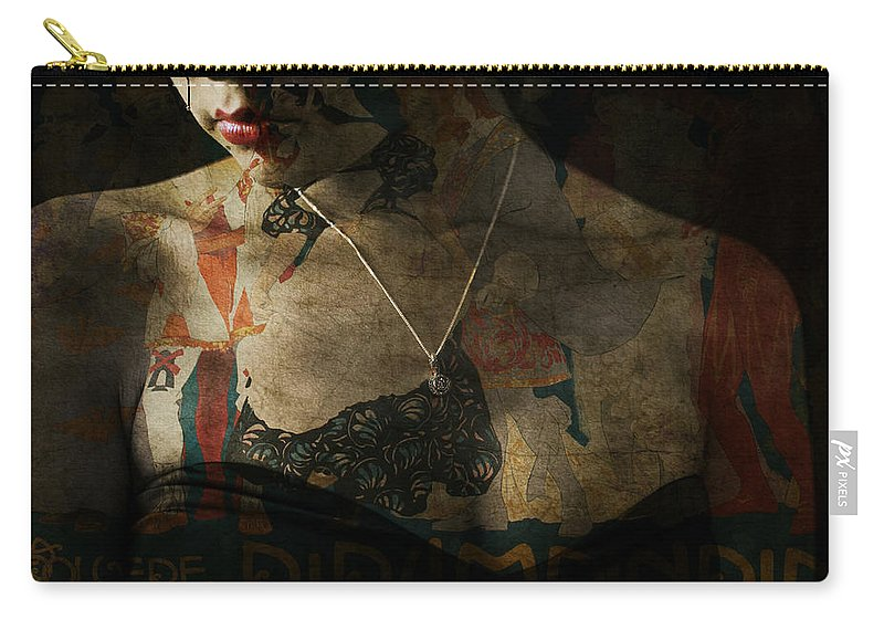 Woman Carry-all Pouch featuring the digital art Every Picture Tells A Story by Paul Lovering