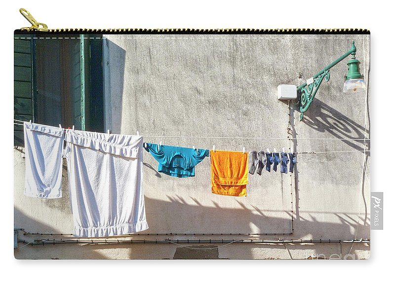 Heiko Carry-all Pouch featuring the photograph Everyday Life In Venice by Heiko Koehrer-Wagner