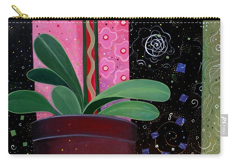 Sacred Carry-all Pouch featuring the painting Everyday Sacred by Helena Tiainen