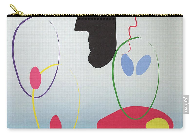Digital Artwork Carry-all Pouch featuring the digital art Everyones Talking And No One's Listening by J R Seymour