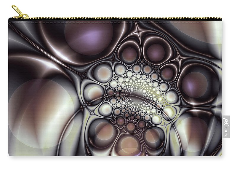 Abstract Carry-all Pouch featuring the digital art Everything In Its Place by Casey Kotas