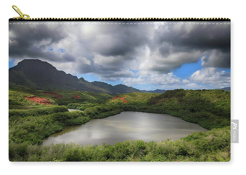Menehune Fish Pond Carry-all Pouch featuring the photograph Everything by Laurie Search