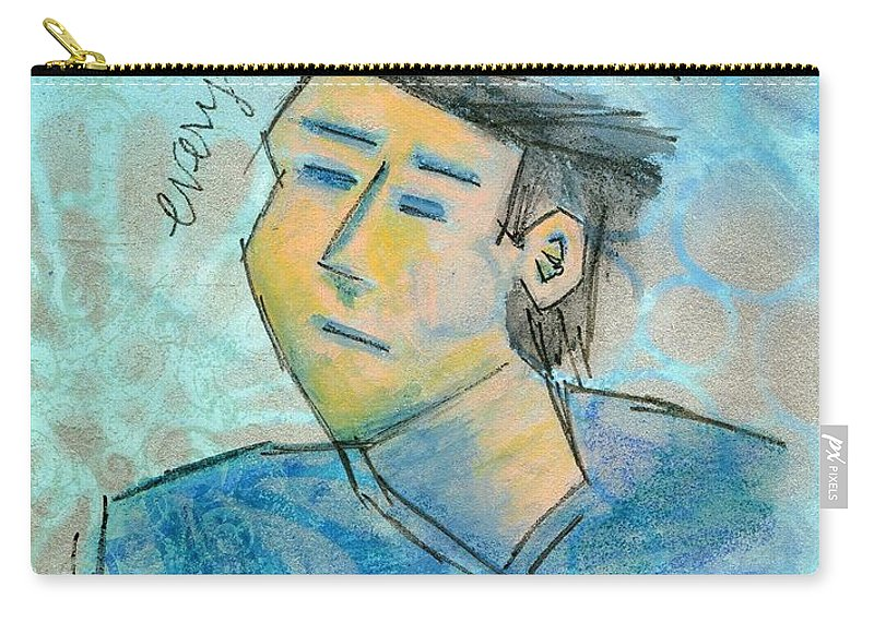 Modern Carry-all Pouch featuring the painting Everything Must Go by Hew Wilson
