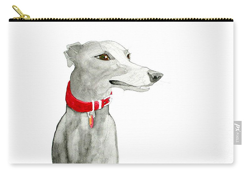 Dog Carry-all Pouch featuring the painting Evie by Richard Williamson