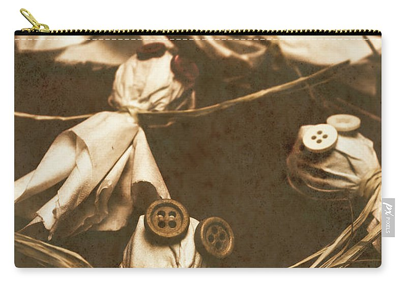 Evil Carry-all Pouch featuring the photograph Evil B-grade Horror Dolls by Jorgo Photography - Wall Art Gallery