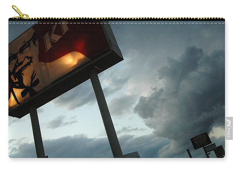 Sky Carry-all Pouch featuring the photograph Evil Colonel by Trish Hale