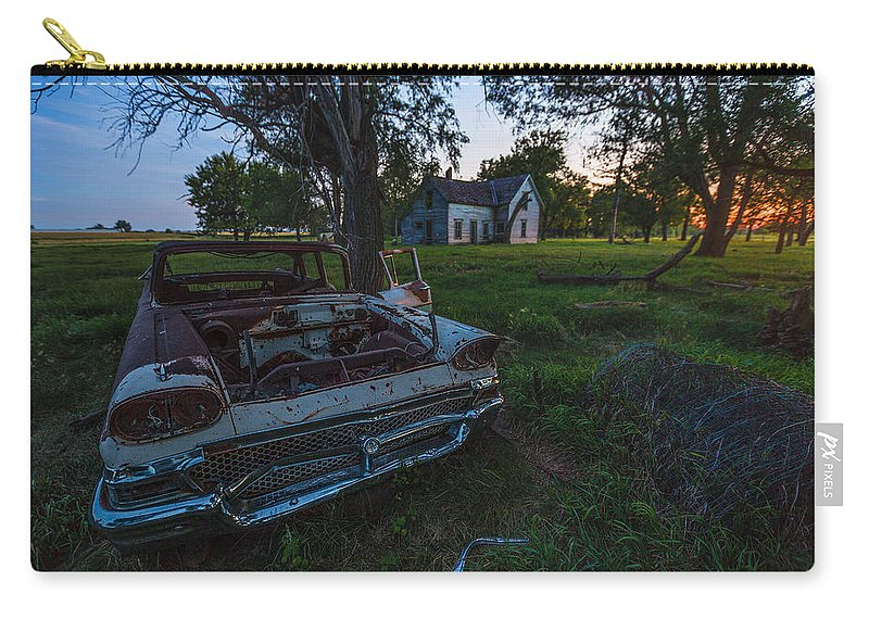 #hifromsd Carry-all Pouch featuring the photograph Evil Dead by Aaron J Groen