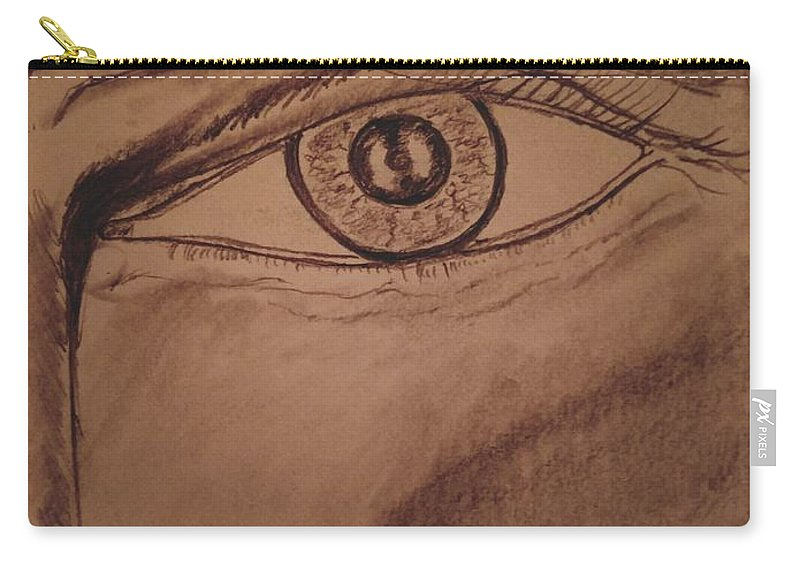 Eye Carry-all Pouch featuring the drawing Evil Eye by Richard Howell
