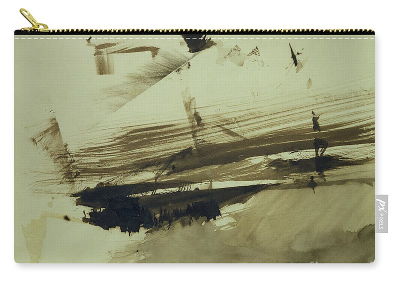 Ink And Wash On Paper Carry-all Pouch featuring the painting Evocation Of An Island by Victor Hugo