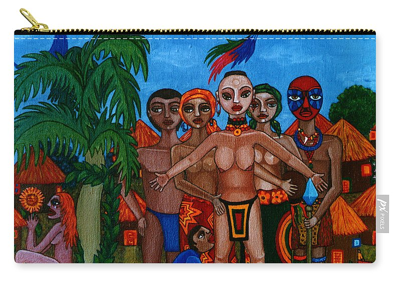 Homeland Carry-all Pouch featuring the painting Exiled In Homeland by Madalena Lobao-Tello