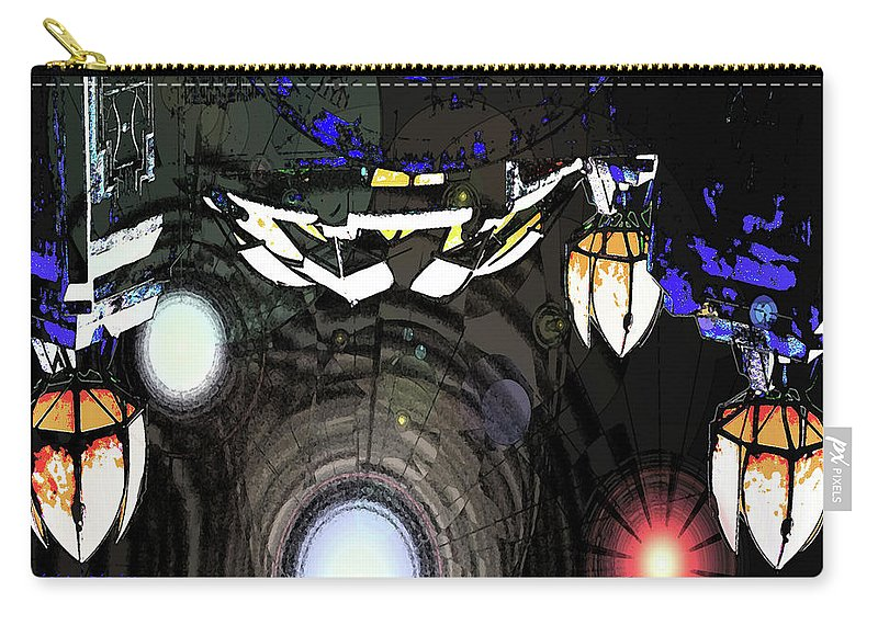 Abstract Carry-all Pouch featuring the digital art Exiting The Mother Ship by DigiArt Diaries by Vicky B Fuller