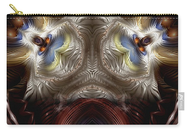 Abstract Carry-all Pouch featuring the digital art Exogenic Symmetry 1 by Casey Kotas