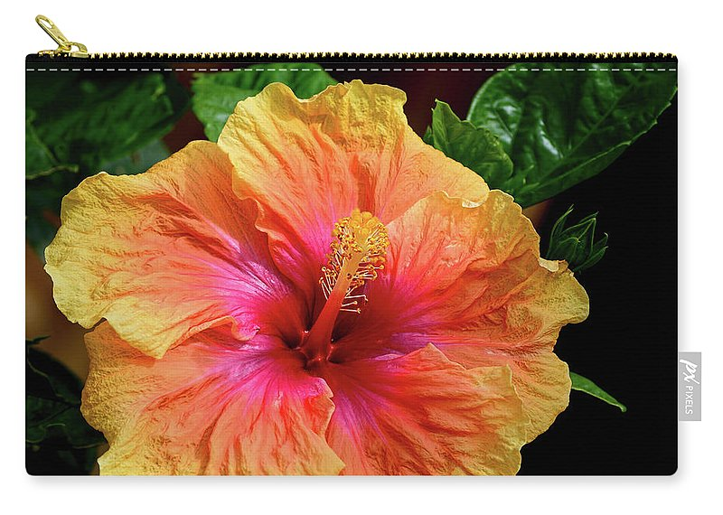 Exotic Hibiscus Flower By Kaye Menner Carry All Pouch For Sale By