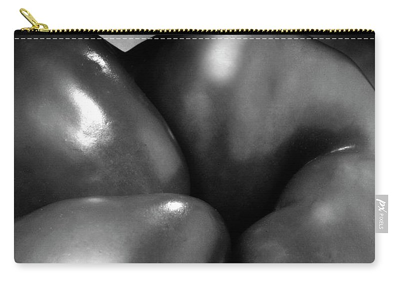 Black & White Carry-all Pouch featuring the photograph Exotic Landscape Three by Frederic A Reinecke
