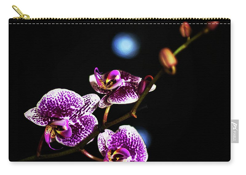 Exotic Orchid Carry-all Pouch featuring the photograph Exotic Orchid 6 by Alex Art and Photo