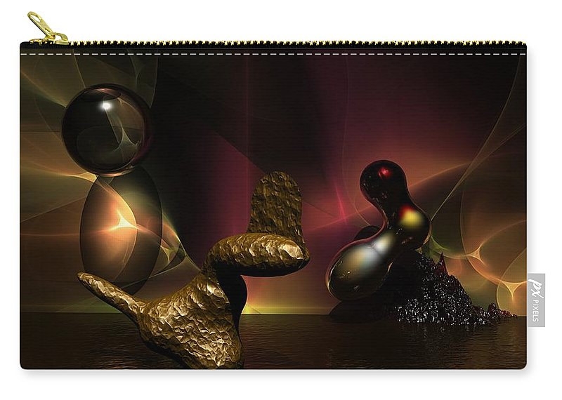Fantasy Carry-all Pouch featuring the digital art Experiment In Dementia by David Lane