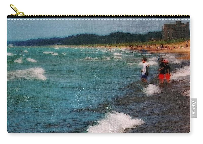 Carry-all Pouch featuring the photograph Exploring The Beach by Kim Blaylock