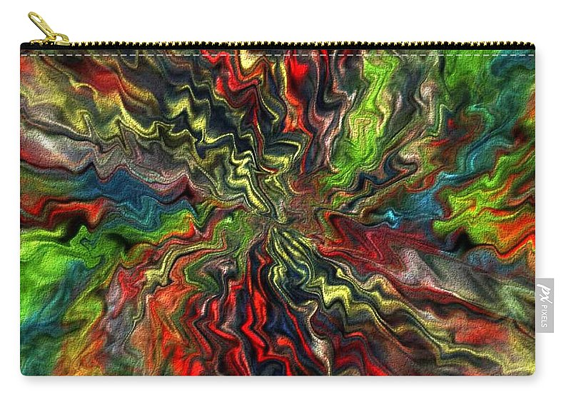 Digital Picture.art Digital Carry-all Pouch featuring the digital art Explosion by Halina Nechyporuk