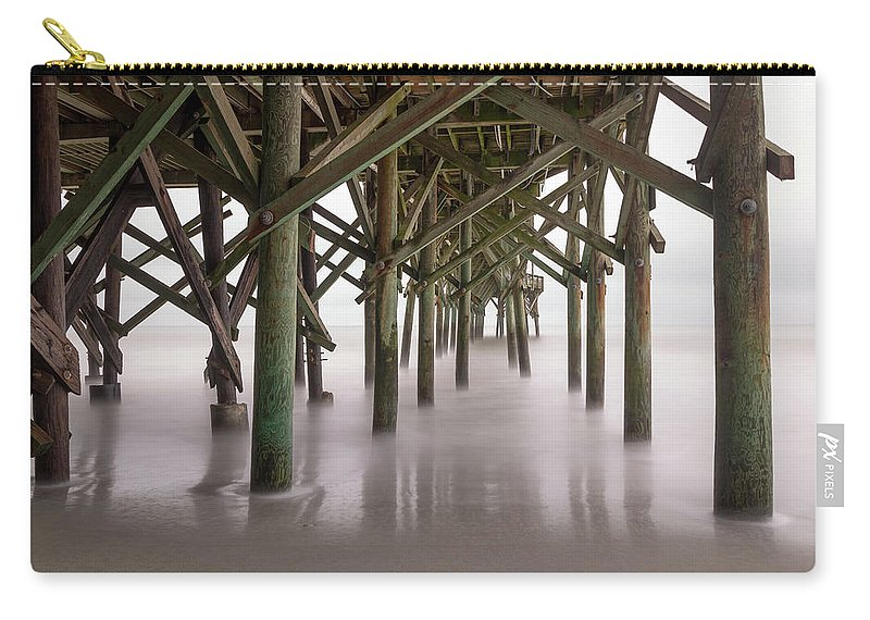 Long Exposure Carry-all Pouch featuring the photograph Exposed Structure by Charles Lawhon