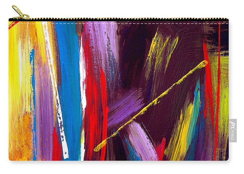 Abstract Carry-all Pouch featuring the painting Express Yourself by Ruth Palmer