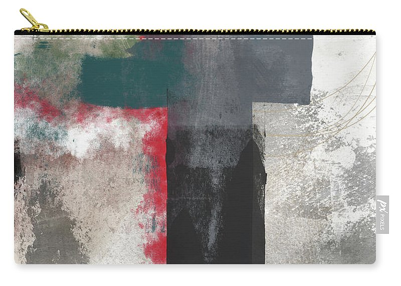 Cross Carry-all Pouch featuring the mixed media Expressionist Cross 4- Art By Linda Woods by Linda Woods