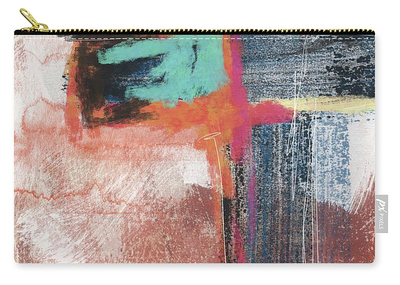Cross Carry-all Pouch featuring the mixed media Expressionist Cross 5- Art By Linda Woods by Linda Woods