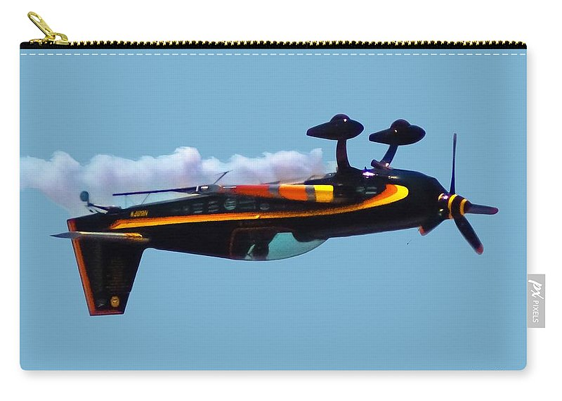 300s Carry-all Pouch featuring the digital art Extra 300s Stunt Plane by DigiArt Diaries by Vicky B Fuller