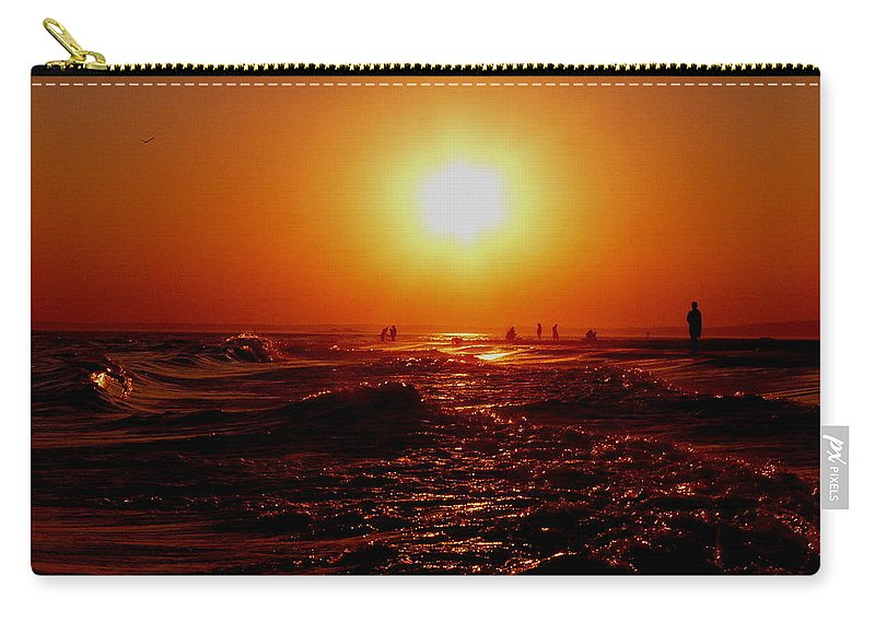 Beach Carry-all Pouch featuring the photograph Extreme Blazing Sun by Kendall Eutemey