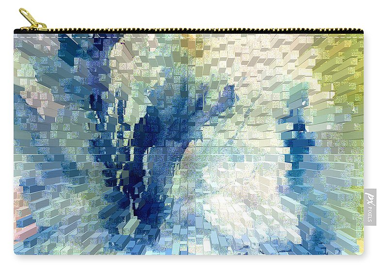 Abstract Carry-all Pouch featuring the painting Extrude by Steve Karol