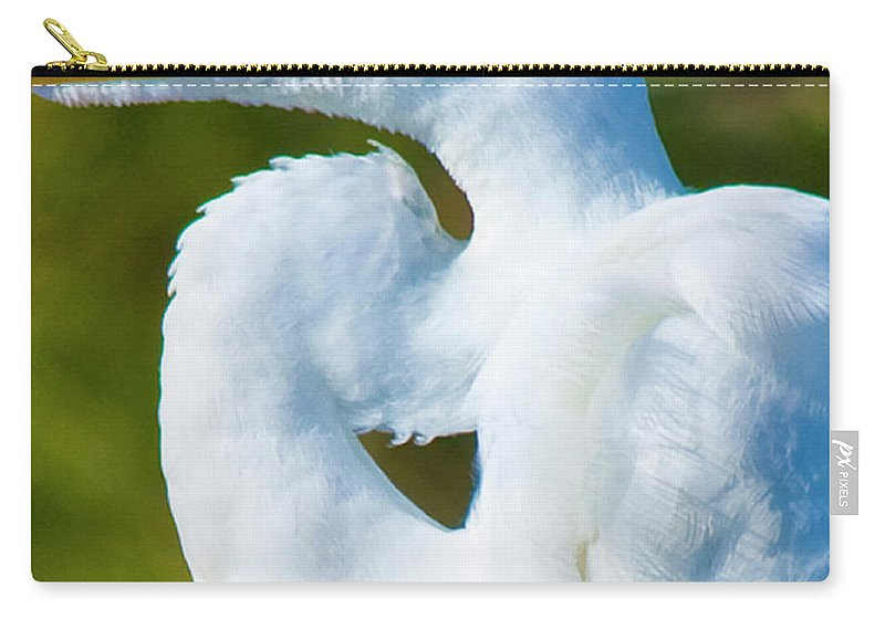 Great White Egret Carry-all Pouch featuring the photograph Eye-catching by Betsy Knapp