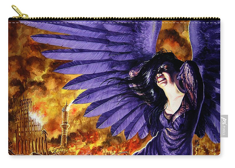 Political Commentary Carry-all Pouch featuring the painting Eye For An Eye by Ken Meyer