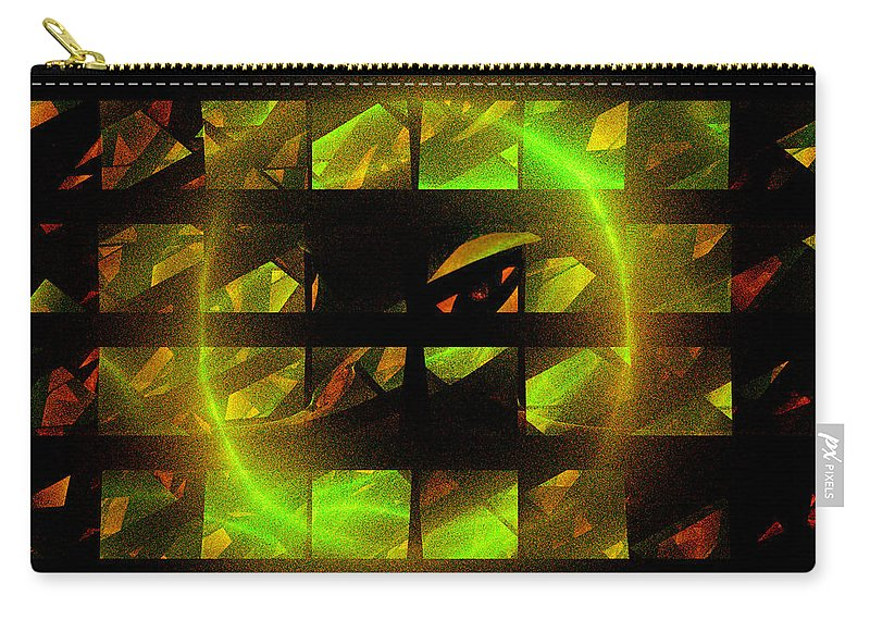 Fractal Carry-all Pouch featuring the digital art Eye In The Window by Victoria Harrington