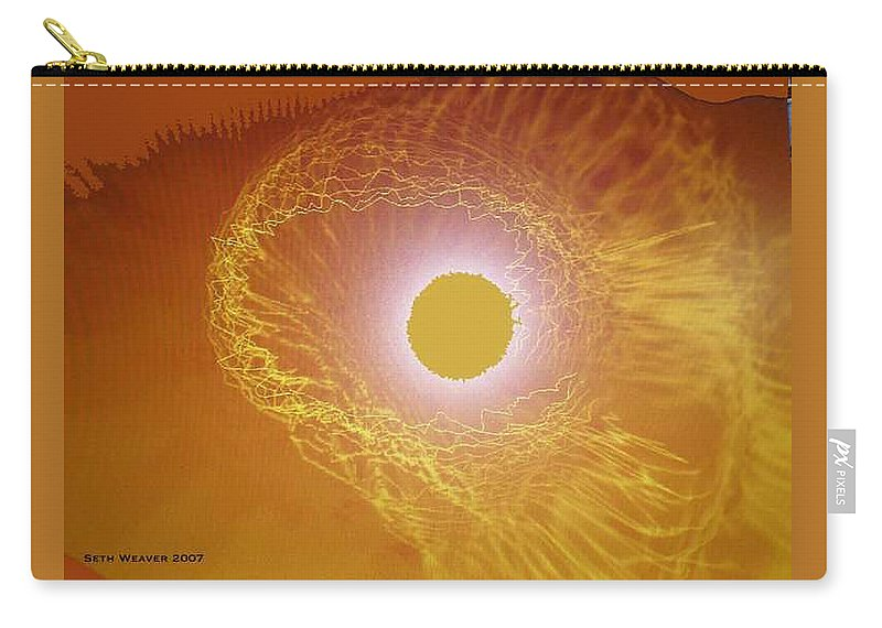 The Powerful Gaze Of The Almighty. Destroying Evil With His Almighty Sight. Carry-all Pouch featuring the digital art Eye Of God by Seth Weaver