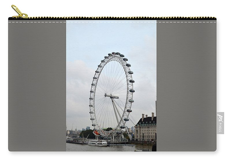 Eye Of London Carry-all Pouch featuring the photograph Eye Of London I by Dawn Crichton