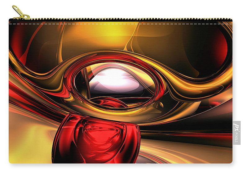 3d Carry-all Pouch featuring the digital art Eye Of The Gods Abstract by Alexander Butler