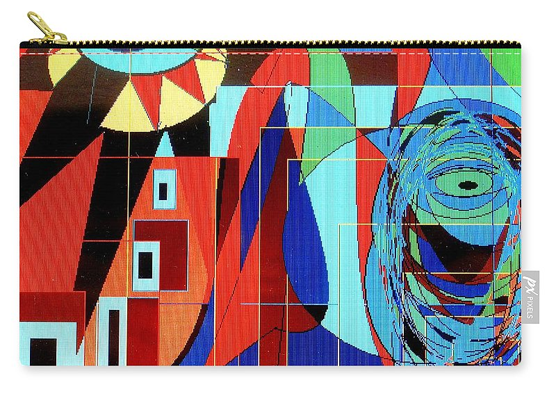 Eye Carry-all Pouch featuring the digital art Eye Of The Tiger by Ian MacDonald