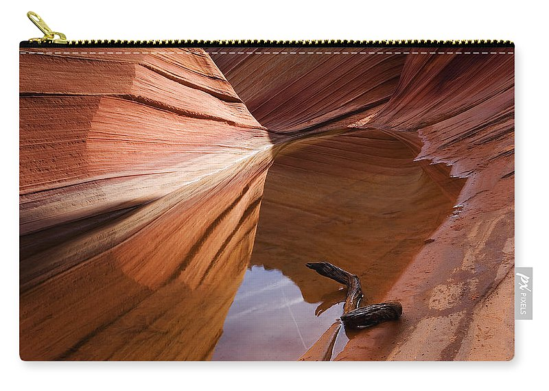 Wave Rock Carry-all Pouch featuring the photograph Eye of the Wave by Mike Dawson